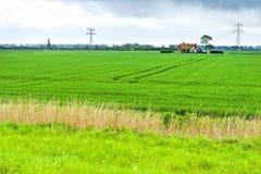 Agricoltura su terra ripresa dal vedere Immagini Stock Libere da Diritti