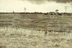Agricoltura su terra ripresa dal vedere Fotografia Stock