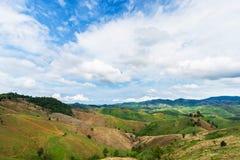 Agricoltura sulla montagna Immagine Stock