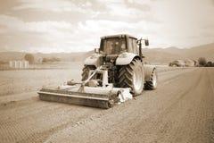 Agricoltura, trattore agricolo dell'annata Fotografie Stock Libere da Diritti