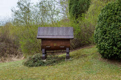 Agricoltura variopinta dell'insetto della scatola dell'alveare di legno della casa dell'ape dell'alveare Fotografie Stock Libere da Diritti