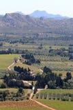 Agricoltura veduta dal DES Baux, Francia di Château Immagini Stock Libere da Diritti