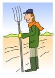 Agriculteur au champ Photo libre de droits