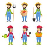 Agriculteur Cartoon Character Photographie stock