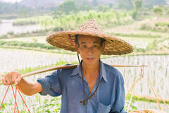 Agriculteur chinois Photo stock
