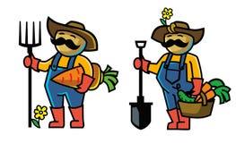 Agriculteur de couleur de vecteur Images stock