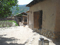 Agriculteur de Tadjik de yard Image libre de droits