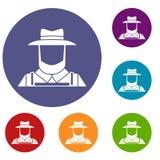 Agriculteur Icons Set Photographie stock libre de droits