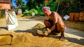 Agriculteur indien traditionnel images stock