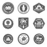 Agriculteur Label Set Images libres de droits