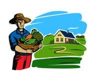 Agriculteur noir de couleur Photographie stock libre de droits