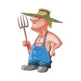 Agriculteur ou plouc de bande dessinée Images stock