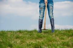 Agricultrice Image libre de droits