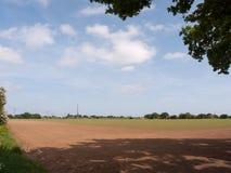 agricultur della natura della molla del cielo del fondo del paesaggio del campo di s '\ dell'agricoltore Fotografia Stock Libera da Diritti