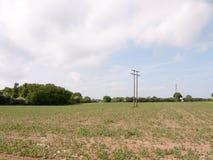 agricultur della natura della molla del cielo del fondo del paesaggio del campo di s '\ dell'agricoltore Fotografie Stock Libere da Diritti