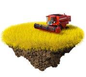 Agricultura: cosecha del campo de grano Fotografía de archivo
