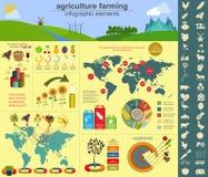 Agricultura, cultivando infographics stock de ilustración