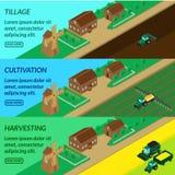 Agricultura da bandeira da Web, ilustração stock