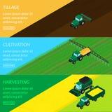 Agricultura das bandeiras da Web ilustração stock