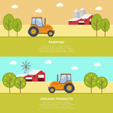 Agricultura e cultivo agribusiness Paisagem rural Imagens de Stock Royalty Free