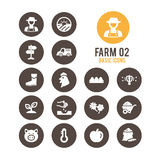 Agricultura e icono del cultivo Ilustración del vector ilustración del vector