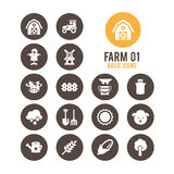 Agricultura e icono del cultivo Ilustración del vector Fotografía de archivo