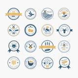Agricultura e logotipos do cultivo Foto de Stock Royalty Free