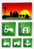 Agricultura - sistema del icono Imagenes de archivo