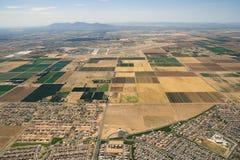 Agricultura y aviación foto de archivo