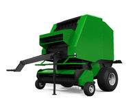 Agricultural Baler Isolated. On white background. 3D render Royalty Free Stock Images