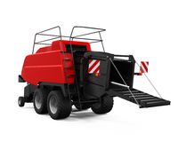 Agricultural Baler Isolated. On white background. 3D render Royalty Free Stock Photo