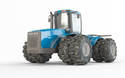 Agricultural blue tractor Stock Photos
