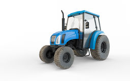 Agricultural blue tractor Royalty Free Stock Photos