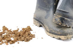 Agricultural boots Royalty Free Stock Photos