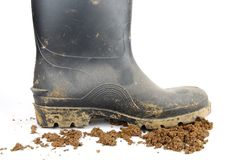 Agricultural boots Stock Photography