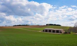 Agricultural breathtaking landscape Stock Image