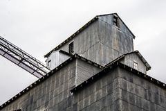 Agricultural Buildings and Grain Elevators Royalty Free Stock Photos