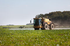 Agricultural chemical sprayer. Tractor pesticide fungicide insecticide sprayer Royalty Free Stock Images