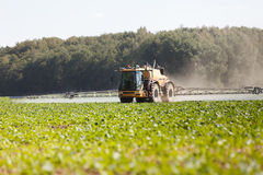 Agricultural chemical sprayer. Tractor pesticide fungicide insecticide sprayer Royalty Free Stock Image