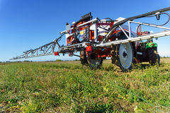 Agricultural chemical sprayer. Tractor pesticide fungicide insecticide sprayer Stock Photography