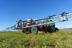 Agricultural chemical sprayer. Tractor pesticide fungicide insecticide sprayer Stock Images
