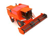 Agricultural combine-harvester Stock Images