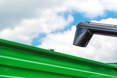 Agricultural Combine Harvester Unloading Augur Stock Image