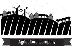 Agricultural company farm land. Farm mill tree Royalty Free Stock Photos