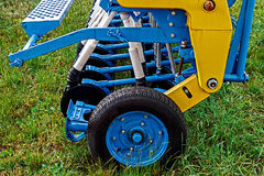 Agricultural equipment. Detail 116. Equipment for agriculture, presented to an agricultural exhibition Royalty Free Stock Images