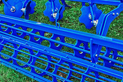 Agricultural equipment. Detail 182. Equipment for agriculture, presented to an agricultural exhibition Royalty Free Stock Photo