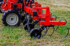 Agricultural equipment. Details 22. Equipment for agriculture, presented to an agricultural exhibition Stock Photo