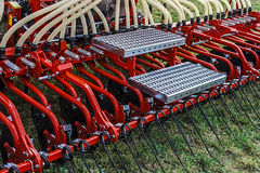 Agricultural equipment. Details 36. Equipment for agriculture, presented to an agricultural exhibition Royalty Free Stock Photography