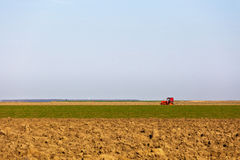 Agricultural equipment in the field Stock Photography