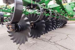 Agricultural equipment for fields. Plow close up Royalty Free Stock Photo